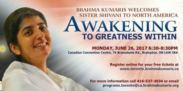 Sister Shivani The Great Motivational And Spiritual Speaker Is Visiting Toronto