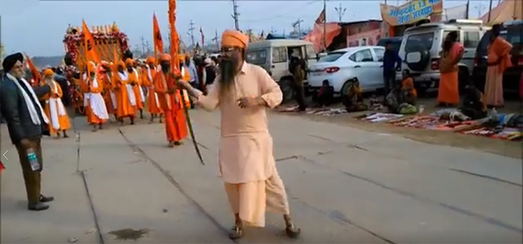 Sikhs 13th Akhada in Prayagraj Ardh Kumbh Mela celebration