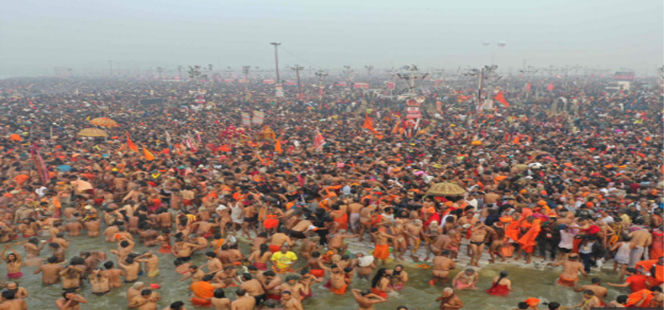 Lets walk with us in Prayagraj Kumbh Mela and take a holly dip in Thiriveni Sangam