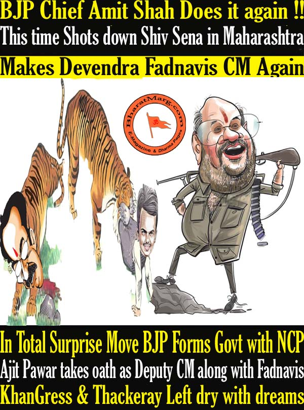 BJP Chief Amit Shah Does it again !! BJP Forms Govt with NCP