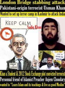 London Bridge stabbing attack – Pakistani-origin terrorist Usman Khan Shot dead !!