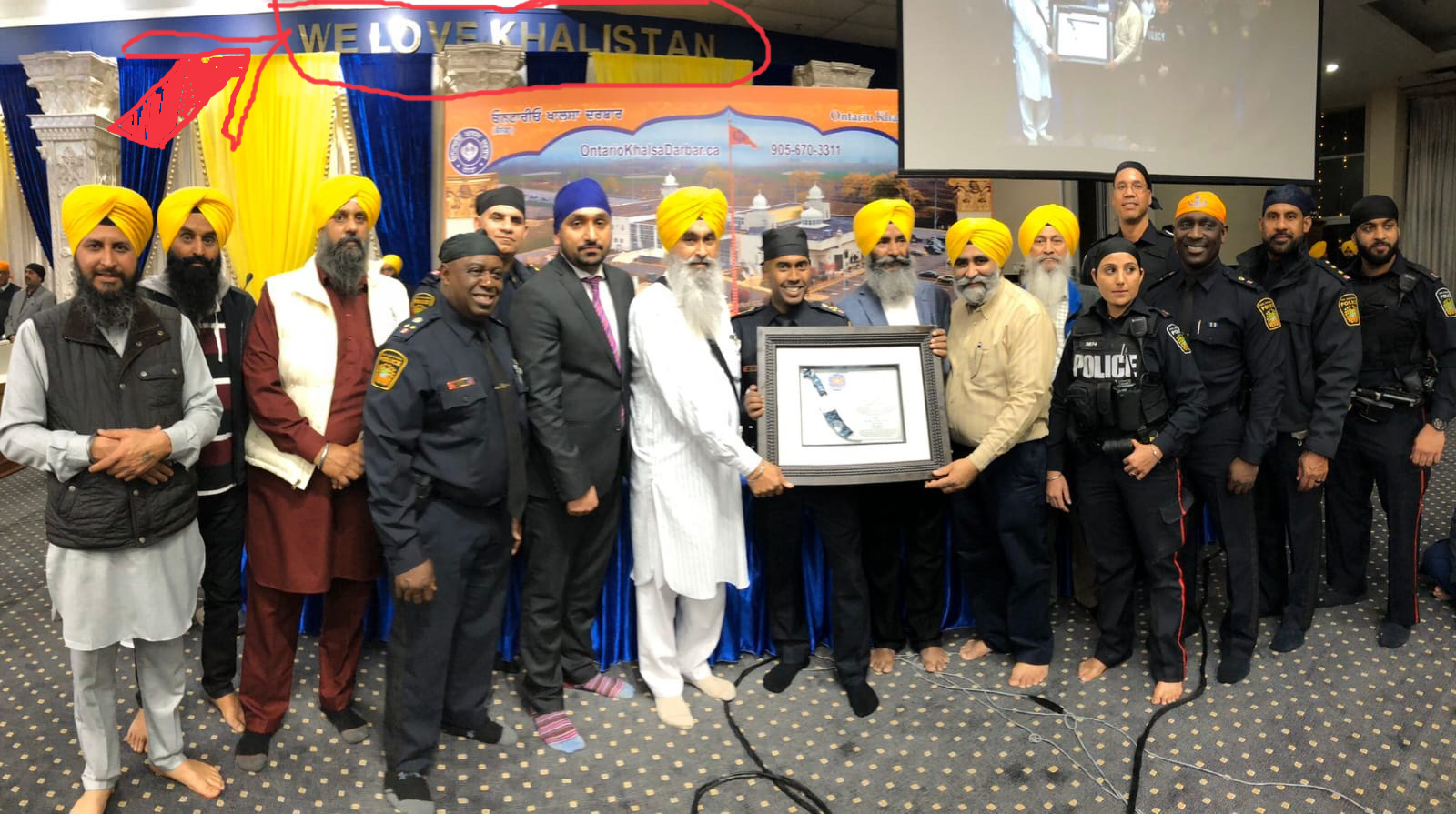 Peel Police Justifies Supporting & Encouraging Sikh Extremist Khalistan Movement in Canada !!