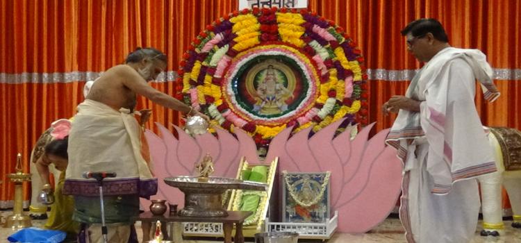 Rudrabhishekam for Ayyappa Swami in Canada for World peace – By Ayyappa Bhaktha Association