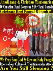 Jihadi gang & Christian Missionaries Celebrate Beef Pongal & Insult all !!