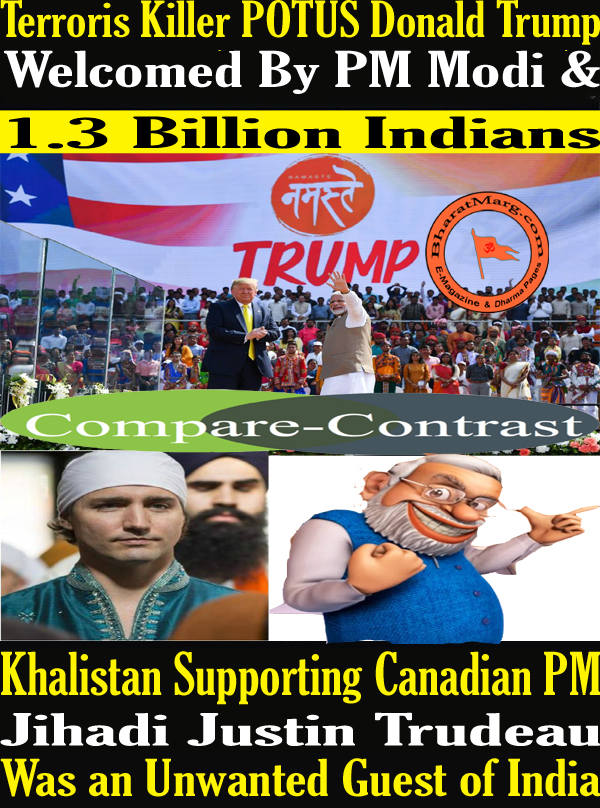 POTUS Donald Trump Welcomed By PM Modi & 1.3 Billion Indians !!