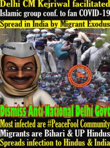 Delhi CM Kejriwal facilitated Islamic group conf. to fan COVID-19 ?