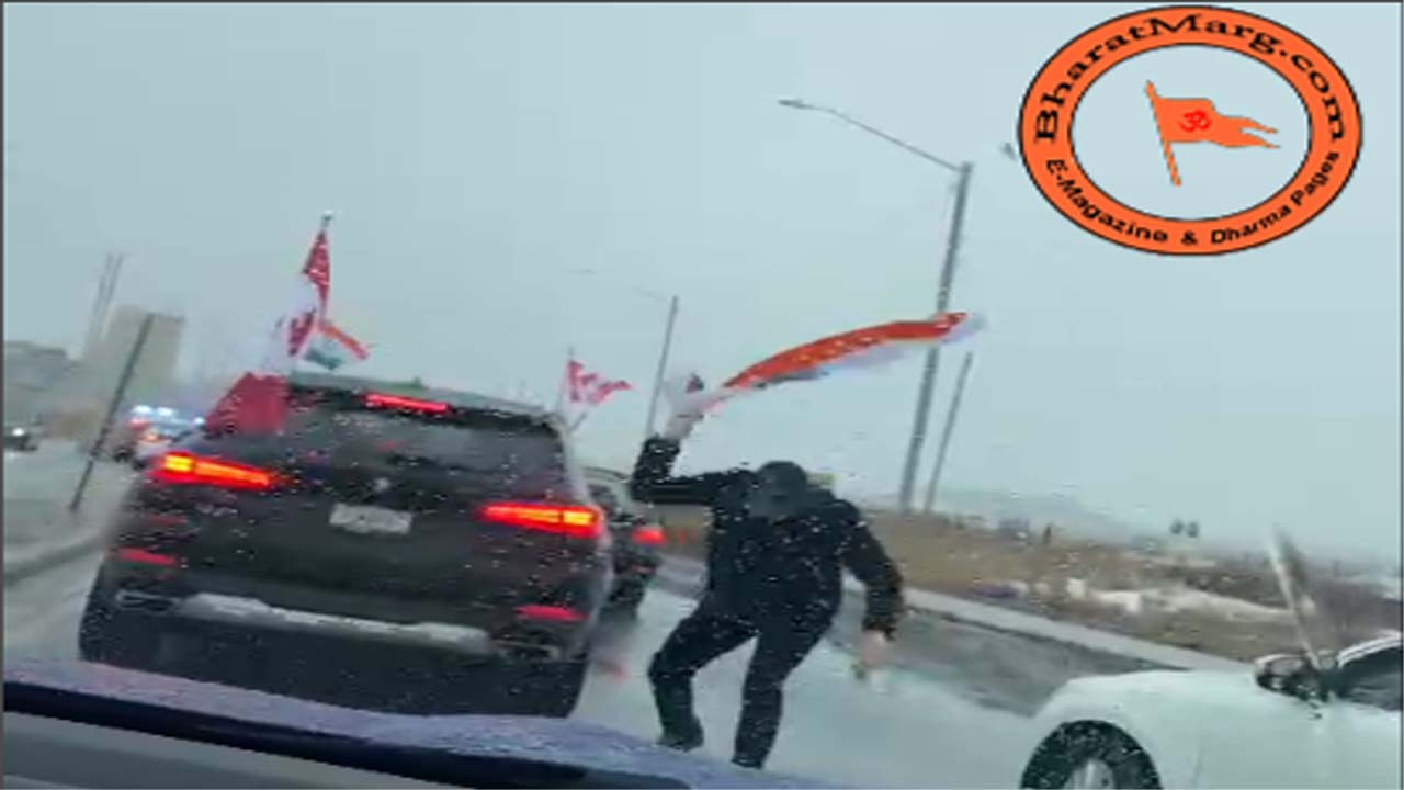Sikh goons attack peaceful pro farmer rally in Brampton, Canada